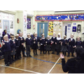 Reception are enjoying their singing