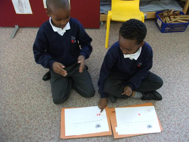 Year2 are composing rhythm patterns using balloons