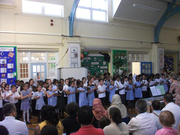 Year 2  sing 'Zulu warrior' at the summer concert