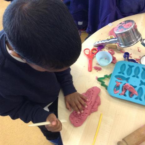 We are learning to use different tools during our play
