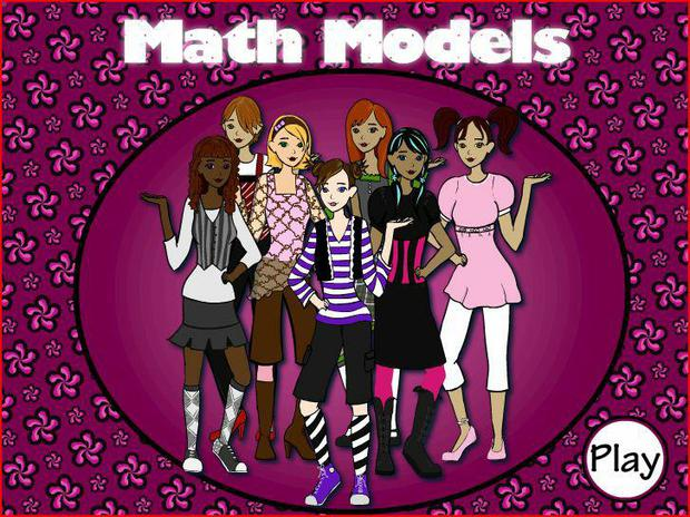 Choose different hair styles, shoes, tops, pants, skirts, and more in this fun dress up game.  Practice the multiplication facts while practicing your clothes designing skills.