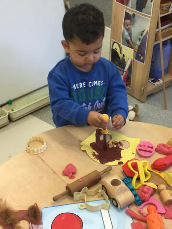 We play with different types of materials and textures
