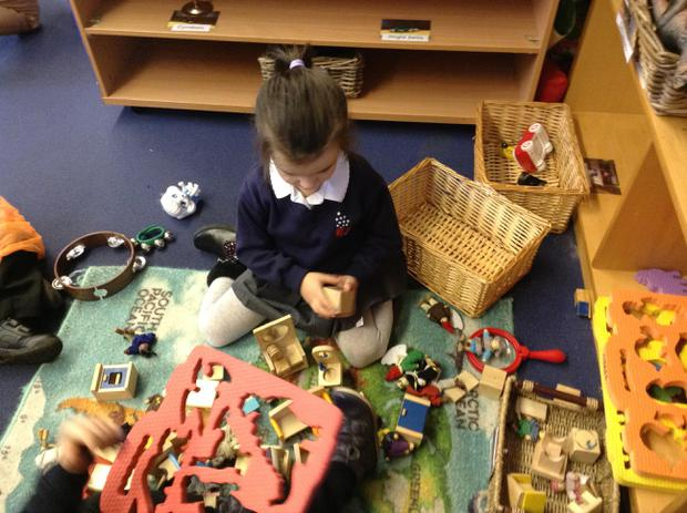 We use small world toys for imaginative role play