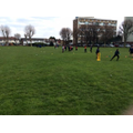 The whole year went onto the field for the afternoon to play versions of small sided cricket and netball matches.