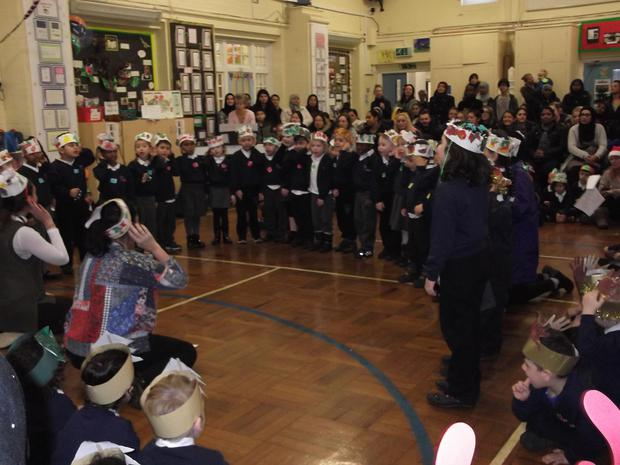 Reception told the story of 'Christmas is coming' with lots of good counting songs.JPG