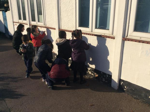 In Terrific Twos we have been using our fine motor skills to decorate the outside of the nursery