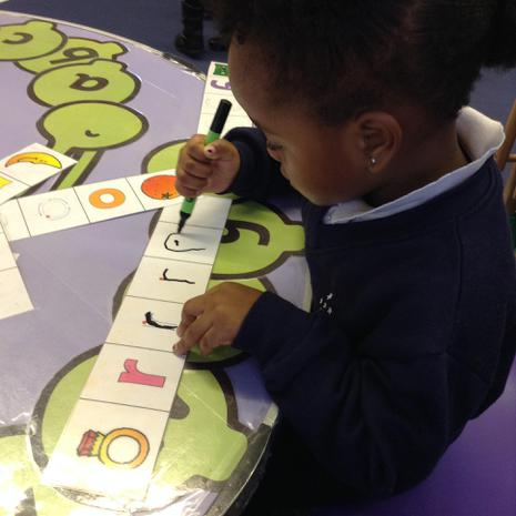 We are learning to form different letters correctly