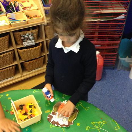 We have been making our own owls based on the Owl Babies story