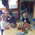 These hungry babies needed feeding in Orange class.JPG