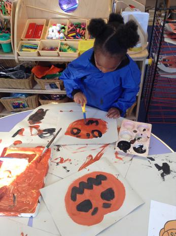 We have been learning about Halloween and the tradition of pumpkins