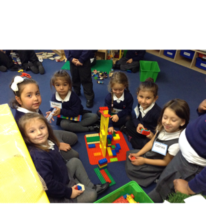 We are working together to make a house