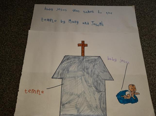 The presentation of Jesus (By Scarlett)