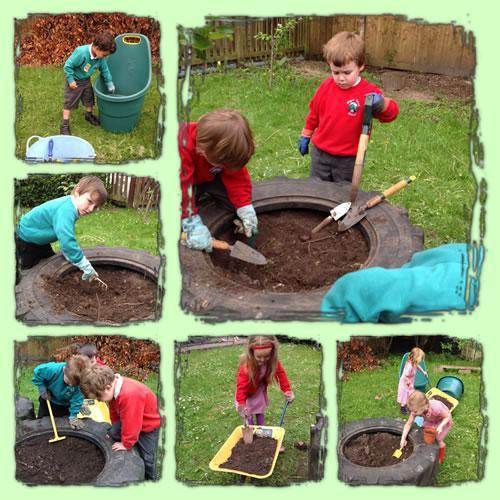 Digging fun in Year R