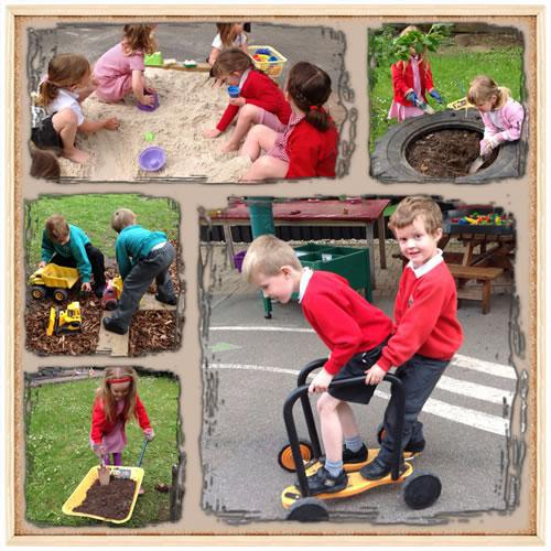 Year R working and playing together