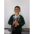 Cole Ward.  100% attendance for 4 YEARS!!!
