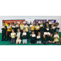 30 children got gold trophies for 100% attendance