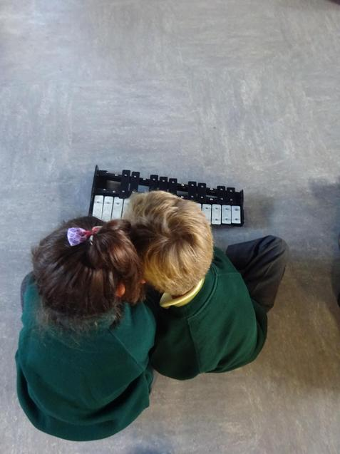 We really enjoying trying out lots of different musical instruments.