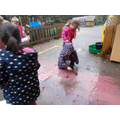 Puddle colour mixing