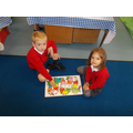 Recognising our numbers and completing a puzzle