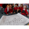 First we drew our dinosaur...