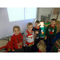 Repeating patterns on Christmas jumper day