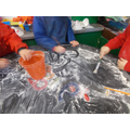 Number writing in flour