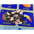 Estimating how many shoes fit footprint