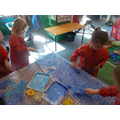 Painting bubble wrap - so much fun!
