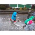 Rainy day puddle making