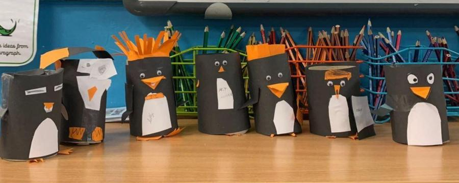 Penguins made when we were looking at our Explorers topic, animals that lived in the cold.