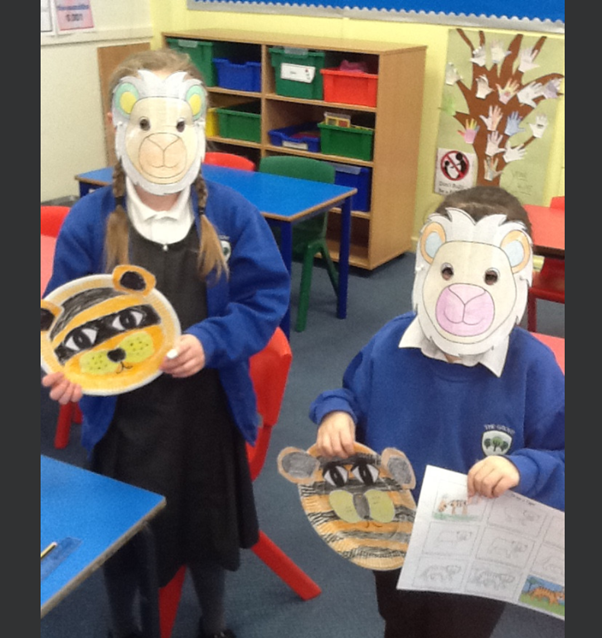 Year 3 were very creative in making animal face masks.