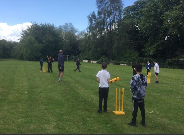 Demonstrating fantastic communication skills during cricket.