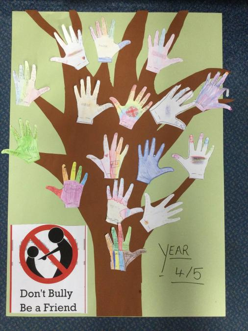 Our special anti bullying tree as we learnt lots doing this and enjoyed the police visit.