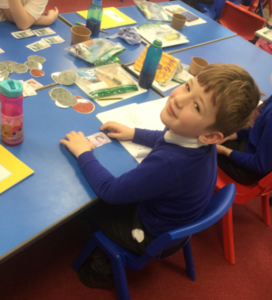 Year 3 hit the big-time, working with giant money in maths!