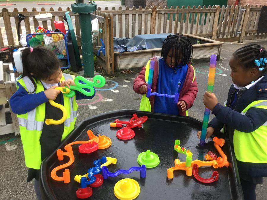 More outdoor play learning.