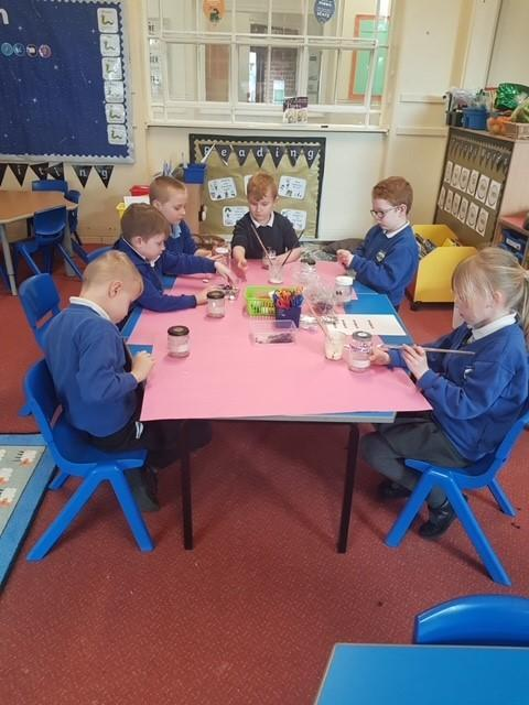 After talking about worry we then made worry jars to take home. Part of Mental week.