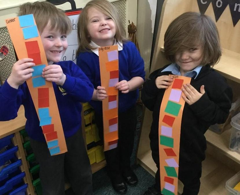 Very proud of their repeating patterns.