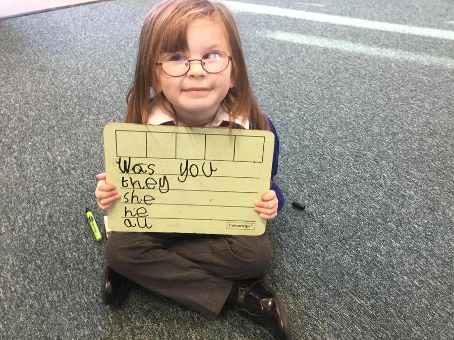 Spelling tricky words.