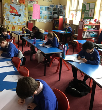 Maths arrival; getting our brains ready for the lesson.