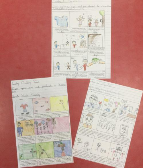 We did some lovely story boards on Roman Crime and Punishment scenarios.