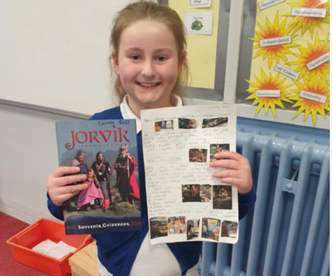 Conney visited the Viking centre in York and produced a fabulous piece of homework.
