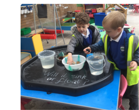 We used some different materials to observe and find out about sinking and floating