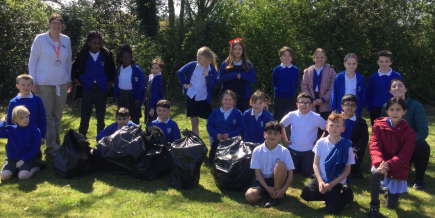 Our forest school clean up during world earth day!