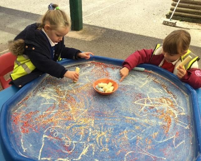 Creative bonfire pictures using different colours and textures.