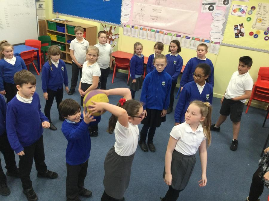 Teamwork lesson in PSHE. A fantastic session of working together to overcome challenges!