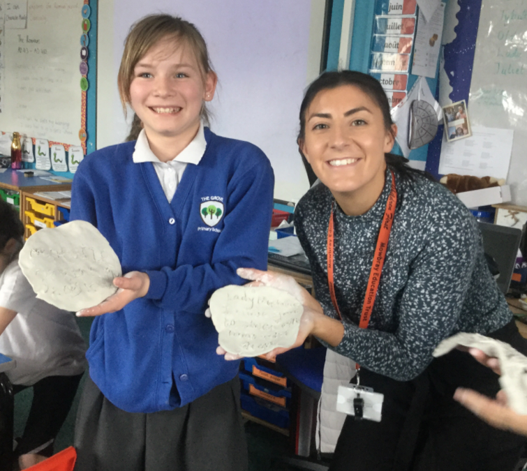 Learning about Crime and Punishment in The Roman Times – we wrote a curse on air clay!