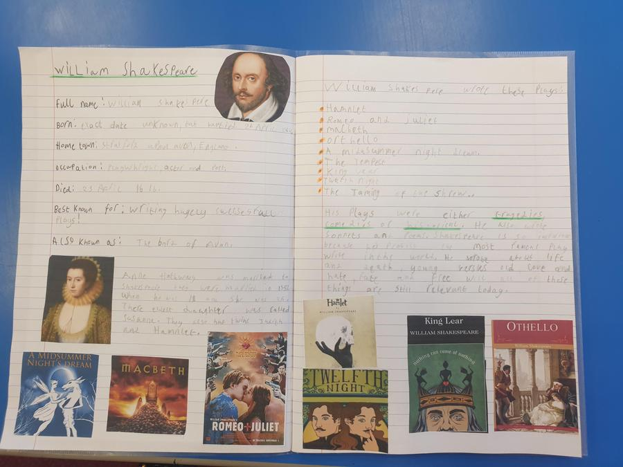 The children produced a fantastic piece of writing translating from old English to Modern.