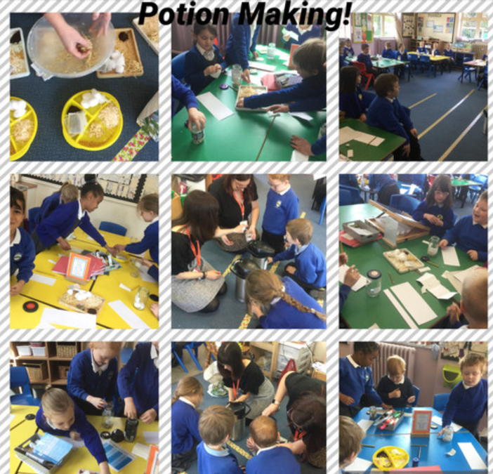 Making our own potions, we had great fun!