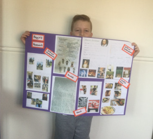 A superb example of Year 6 homework by Reggie.