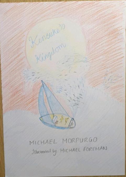 A super drawing created by Fernando based on the class book; Kensuke's Kingdom.